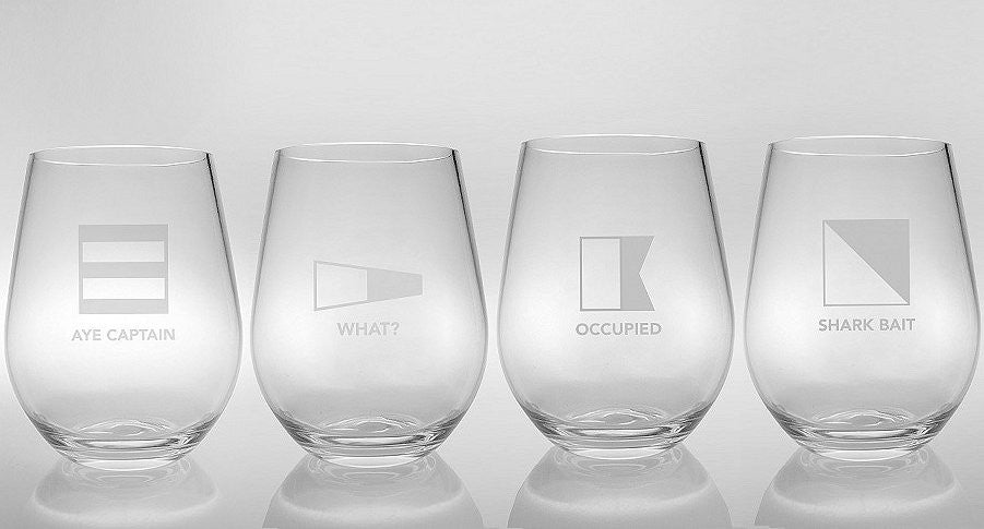 acrylic tumblers nautical theme