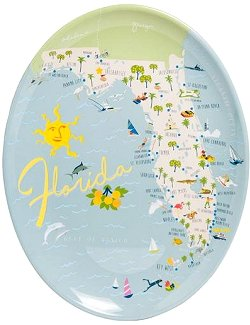 Beach Vacation Acrylic Serving Platter Sets