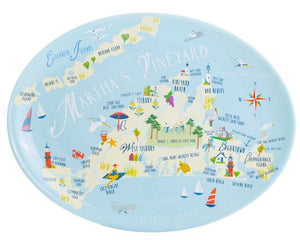 Beach Vacation 2-Pc. Acrylic Serving Platter Sets - Nautical Luxuries