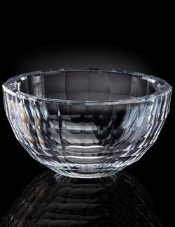 Acrylic Faceted Block Serving And Snack Bowls