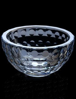Acrylic Faceted Water Drops Serving Bowls