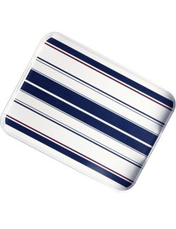 Saint-Tropez Stripe Non-Breakable Rectangular Serving Tray - Nautical Luxuries