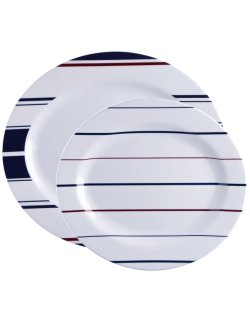 Saint-Tropez Stripe Non-Breakable 2-Pc. Serving Platter Set