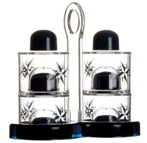 Nautical Themed Oil & Vinegar Cruets, Salt & Pepper Shaker Set - Nautical Luxuries