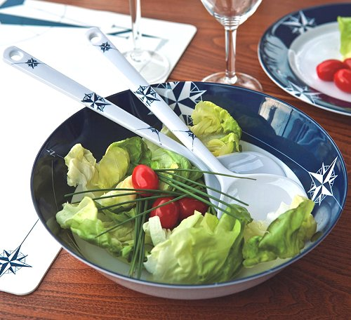 Northern Star Non-Breakable 3-Pc. Salad Set - Nautical Luxuries