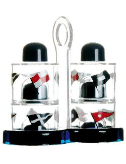 Nautical Themed Oil & Vinegar Cruets, Salt & Pepper Shaker Set