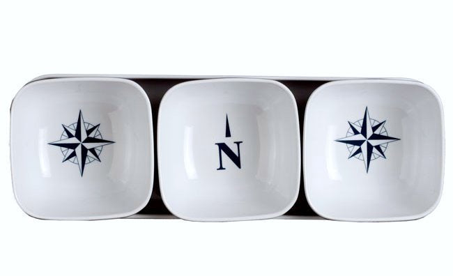 Non-Breakable 4-Pc. Snack Bowl/Tray Sets - Nautical Luxuries