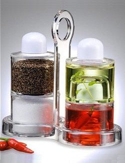 Nonbreakable Oil & Vinegar Salt & Pepper Set