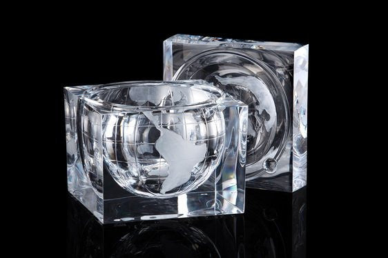 Acrylic Navigator's Globe Ice Bucket - Nautical Luxuries