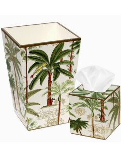 Exotic Palm Hand-Painted 2-Pc. Bath Set