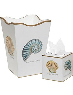 Elegant Shells Hand-Painted 2-Pc. Bath Set