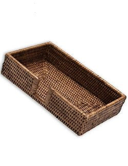 Natural Rattan Disposable Guest Towel Caddies - Nautical Luxuries