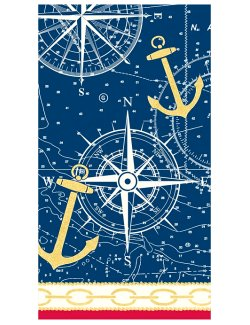 Luxury Disposables Guest Towels/Nautical Icons - Nautical Luxuries