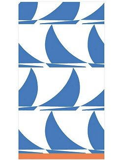 Luxury Disposables Guest Towels/Regatta Blue - Nautical Luxuries