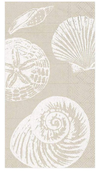 Luxury Disposables Guest Towels/Sandy Shells - Nautical Luxuries