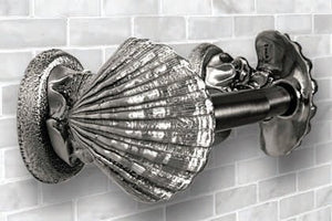 Classic Metal Shell Toilet Paper Holder - Nautical Luxuries