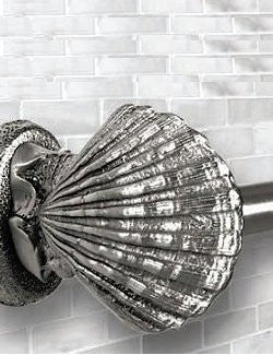Classic Metal Scallop Shell Towel Bar