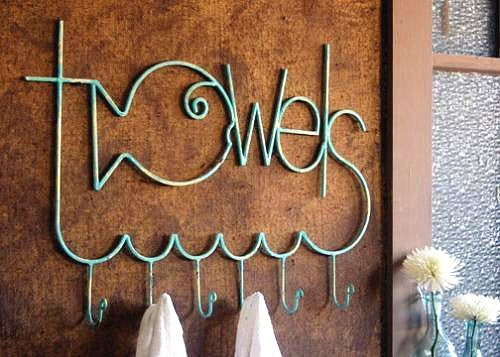 Rustic Metal Beach Towels Rack