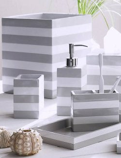 Cabana Stripe Shiplap Bath Collection - Nautical Luxuries