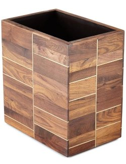 Rosewood Stateroom Wastebasket - Nautical Luxuries