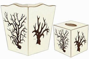 Branching Coral Decoupage Bath Sets - Nautical Luxuries