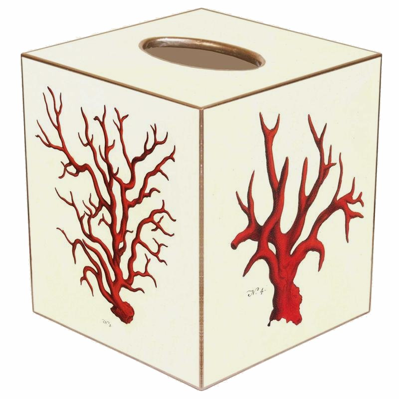 Red Coral Decoupage Bath Sets