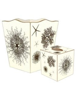 Sea Urchin & Starfish Decoupage 2-Pc. Bath Set