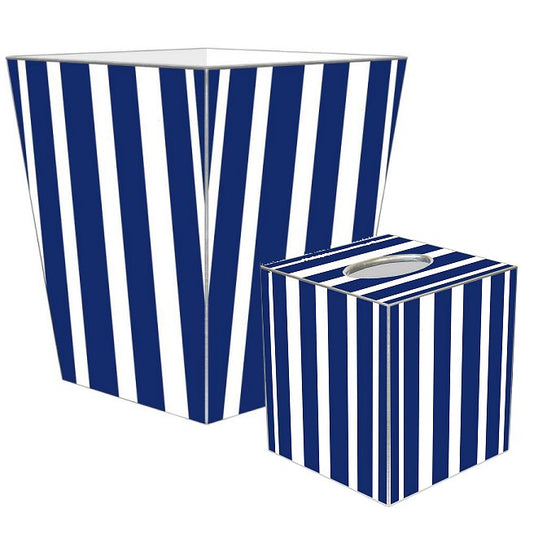 Cabana Stripe Decoupage Bath Set