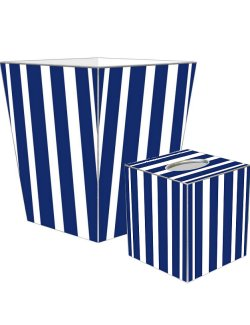 Cabana Stripe Decoupage Bath Set - Nautical Luxuries