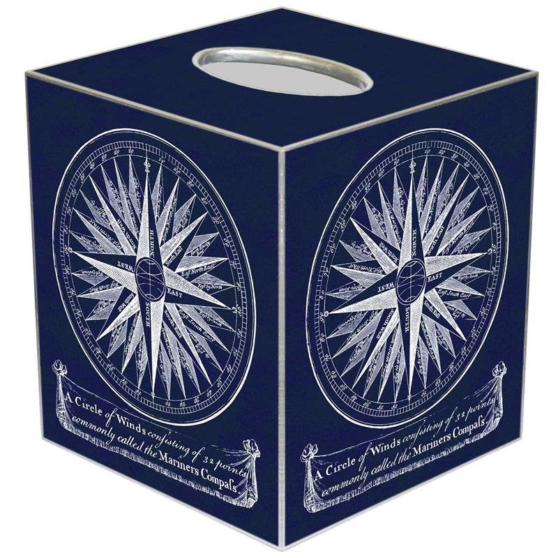 Decoupage Compass Rose Wood 2-Pc. Bath Sets