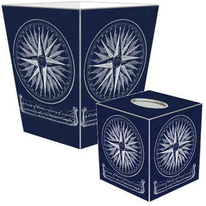 Decoupage Compass Rose Wood 2-Pc. Bath Sets - Nautical Luxuries
