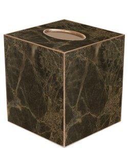 Marble Elegance Decoupage Wood Tissue Box - Nautical Luxuries