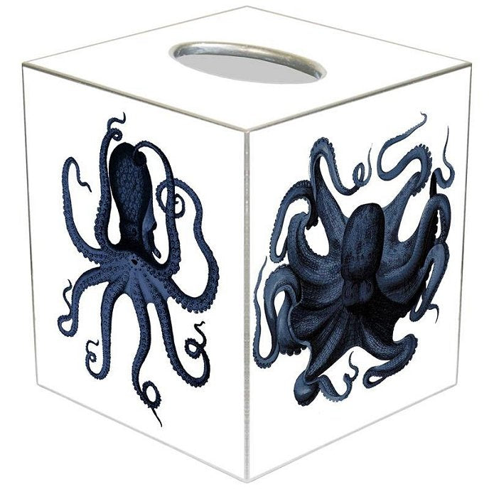 Indigo Octopus Decoupage Bath Set - Nautical Luxuries