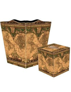 Old World Chart Decoupage Bath Set