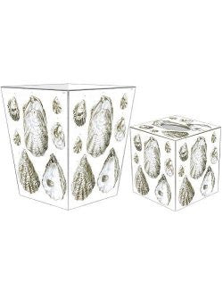 Oyster Elegance Decoupage Bath Set