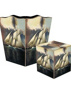 Vintage Schooner Decoupage Bath Set