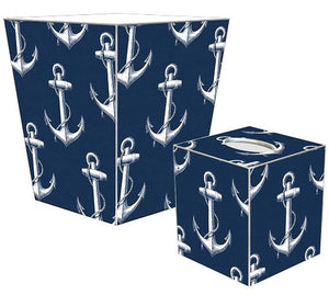 Vintage Anchor Decoupage Bath Set - Nautical Luxuries