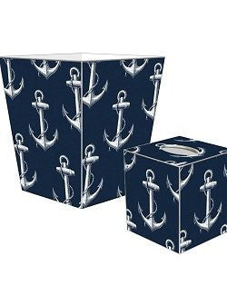 Vintage Anchor Decoupage Bath Set