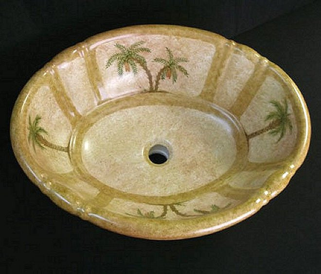 Colonial Palm Coastal Sink - Nautical Luxuries
