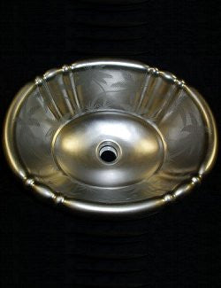 Palm Beach Platinum Elegant Coastal Sink - Nautical Luxuries