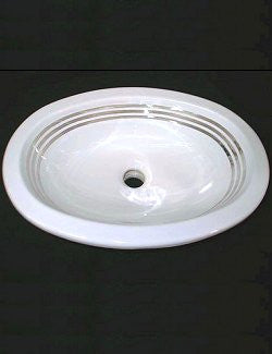 Platinum Stripe Elegant Coastal Sink