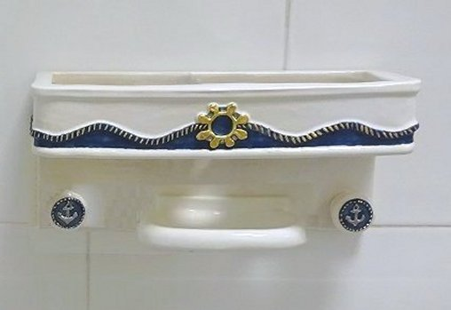 Castaways Hand-Painted Porcelain Bath Accessories