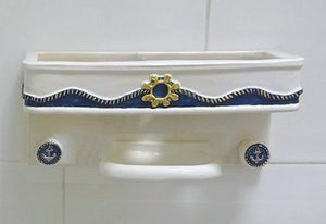 Castaways Hand-Painted Porcelain Bath Accessories - Nautical Luxuries