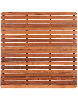 Classic Teak Slat Shower Mat/Round Corners - Nautical Luxuries