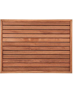 Narrow Framed Teak Slat Floor Mat - Nautical Luxuries