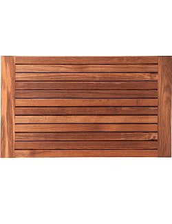 Wide Side Framed Teak Slat Floor Mat - Nautical Luxuries