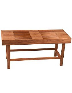 Slatted Teak Large Pool & Spa Bench - Nautical Luxuries