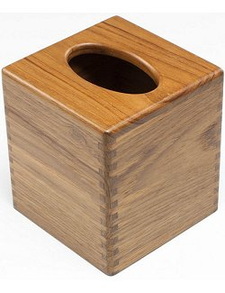 Yachting Teak Collection Cube Tissue Box Holder
