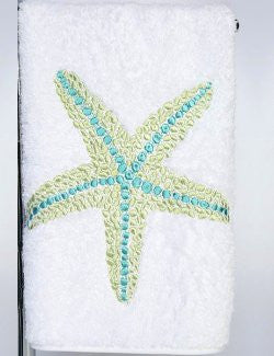 Sea Gem Starfish Embroidered Luxury Terry Towels