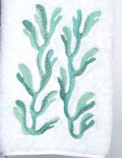 Pacific Kelp Embroidered Luxury Terry Towels - Nautical Luxuries